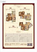 恒大金碧天下3室2厅2卫80--121平方米户型图