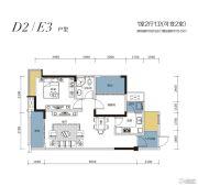 鑫盛滨江国际1室2厅1卫81--103平方米户型图