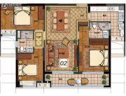 华润天合3室2厅2卫123平方米户型图