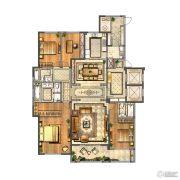 金新鼎邦4室2厅3卫260平方米户型图