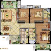 至尊门第3室2厅2卫0平方米户型图