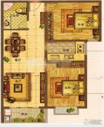 华前城市广场3室2厅1卫92平方米户型图