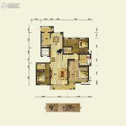 银基银河丽湾3室2厅2卫230平方米户型图
