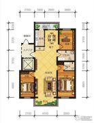 冠城国际3室2厅2卫140平方米户型图