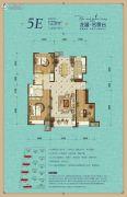 龙湖名景台3室2厅2卫123平方米户型图