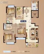 太平洋国际2室2厅2卫83--89平方米户型图