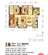 珠海奥园广场3室2厅2卫122平方米户型图