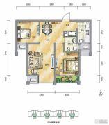 泾渭分明生态半岛2室2厅1卫79平方米户型图