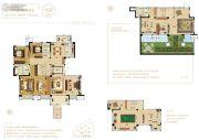中建观湖国际3室2厅3卫168平方米户型图