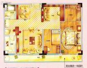 紫晶国际广场3室2厅1卫107平方米户型图
