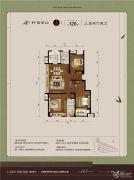 万科竹径云山二期3室2厅2卫120平方米户型图
