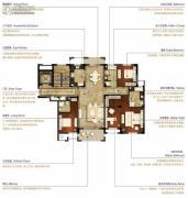 洛城中央御景3室2厅3卫174--177平方米户型图