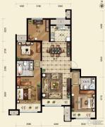 保利春天里4室2厅2卫140平方米户型图