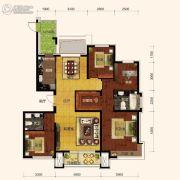保利海上五月花4室2厅2卫144平方米户型图