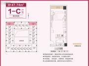 和昌中央悦府・UI空间1室1厅1卫47平方米户型图