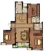 绿地峰云汇3室2厅1卫141平方米户型图