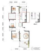 海逸一号3室2厅2卫173平方米户型图