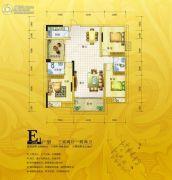 锦绣银湾3室2厅2卫104--120平方米户型图