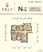 山水云亭4室2厅2卫168平方米户型图