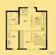多恩海棠湾1室1厅1卫55平方米户型图