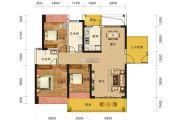 海雅缤纷城3室2厅2卫117平方米户型图