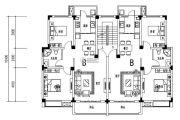 宇业天逸华府 高层2室2厅1卫83平方米户型图