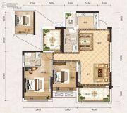 联发君悦壹号2室2厅2卫95平方米户型图