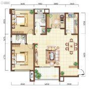 上海公馆2室2厅2卫117平方米户型图