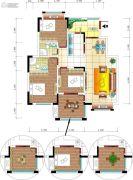 百合御都4室2厅2卫126平方米户型图
