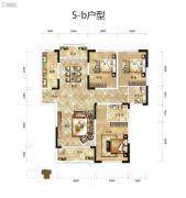 骧龙国际二期3室2厅2卫133平方米户型图