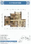 元邦山清水秀3室2厅2卫121平方米户型图