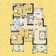 正商红河谷4室2厅2卫133平方米户型图