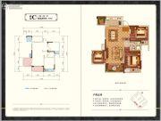 中梁・壹号院3室2厅1卫89平方米户型图