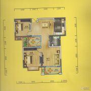 华侨城2室2厅1卫100平方米户型图