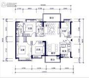 时代倾城4室2厅2卫0平方米户型图