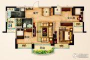 碧桂园城市花园3室2厅1卫88--93平方米户型图