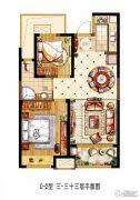 金科世界城2室2厅1卫83平方米户型图