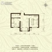 新城国际2室1厅1卫55平方米户型图