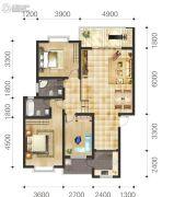 双语雅苑3室2厅2卫104--115平方米户型图