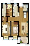 东原逸墅3室2厅2卫90平方米户型图