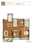 金科城3室2厅2卫115平方米户型图