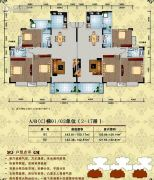 美林宏景新城3室2厅2卫142--150平方米户型图