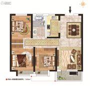 力高阳光海岸3室2厅1卫87平方米户型图