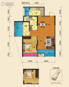 博雅锦苑1室2厅1卫82平方米户型图