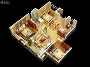 金丽园3室1厅1卫90平方米户型图