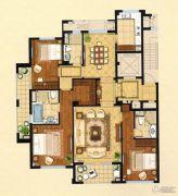 绿城・�Z园3室2厅3卫180平方米户型图