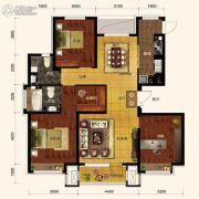 保利海上五月花3室2厅2卫130平方米户型图