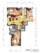 辽阳凯旋门广场3室2厅2卫135平方米户型图