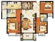 华强城3室2厅2卫123平方米户型图