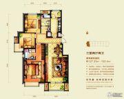 意林・国际公园3室2厅2卫127--132平方米户型图